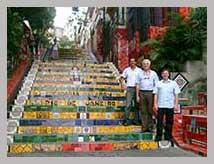 Visite guidée français escalier Lapa Rio de Janeiro