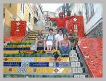 Visite guidée en français de l'escalier Selaron à Lapa - Rio