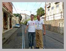 visiteur français et madson guide touristique francophone rio brésil